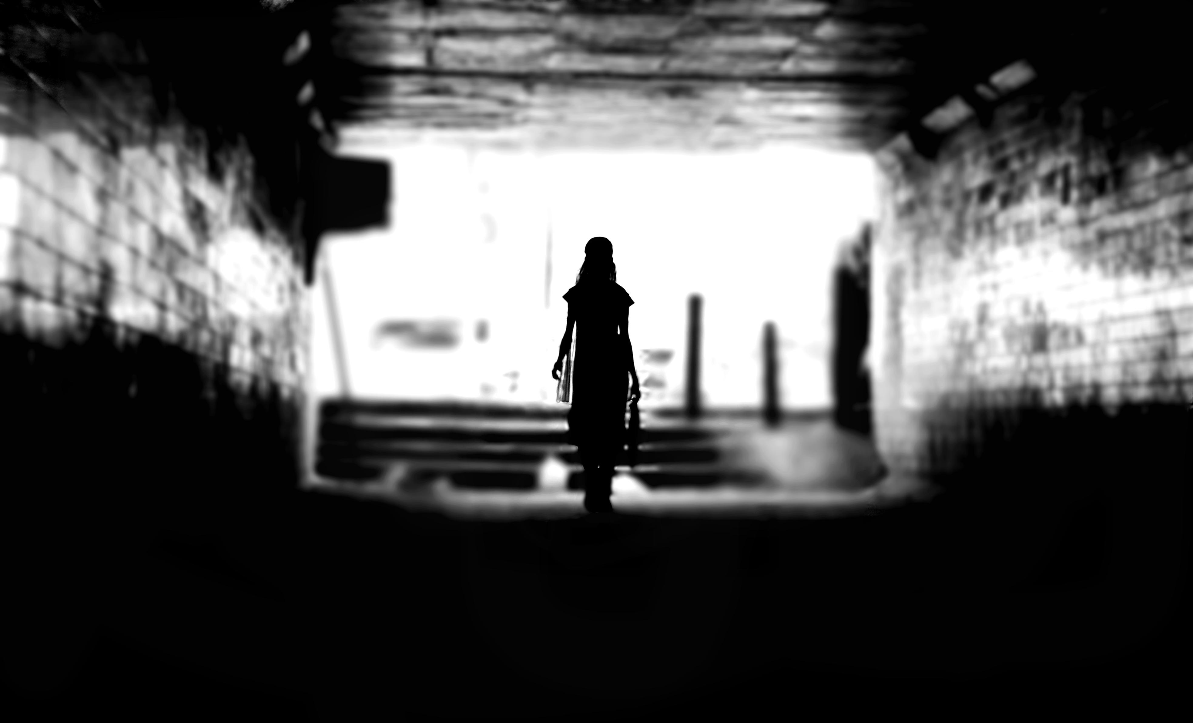Girl hallway